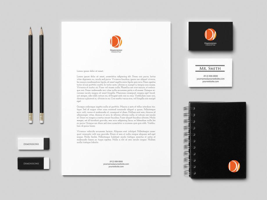 Logo/Brand Identity Design for Dimensions Interior