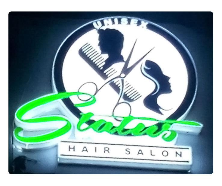 Status hair Salon Signage Design