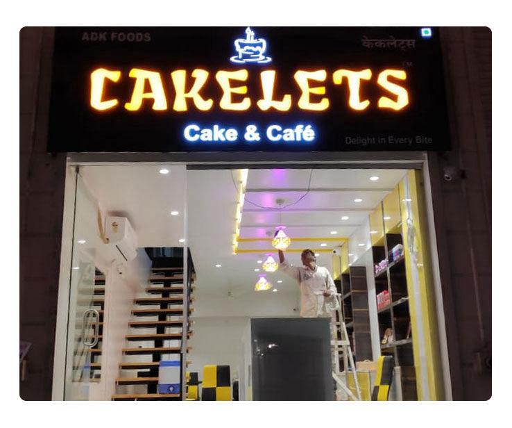 Cakelets Signage Design