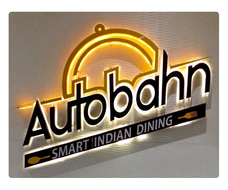 Autobhan Restaurant Signage Design
