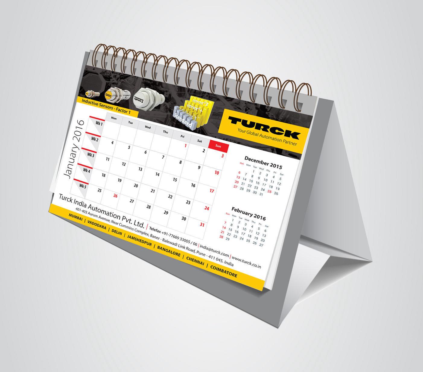 Table Calendar Design by ArtOwls
