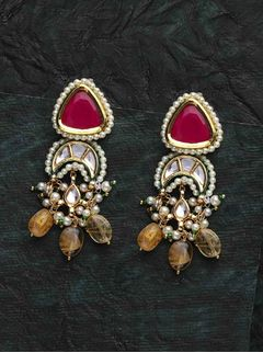 Antique Gold Jhumki Earring