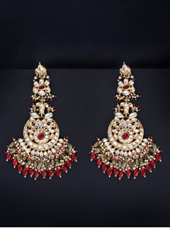 Olive Seed Chandbaalis With Red Drops