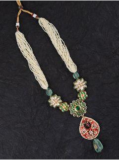 Green Sunflower Necklace