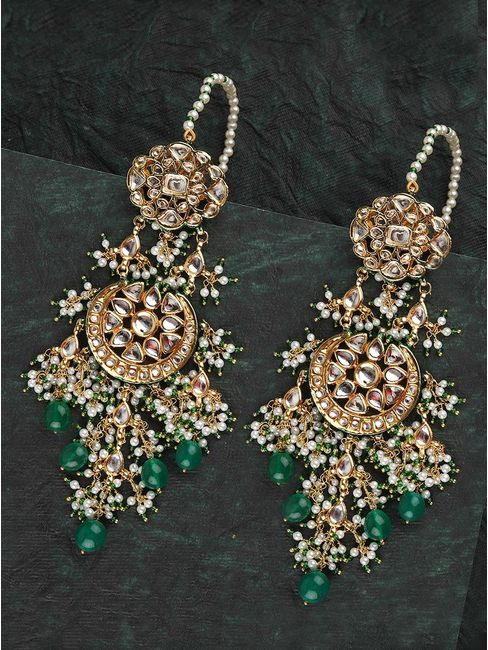 Green passion earrings