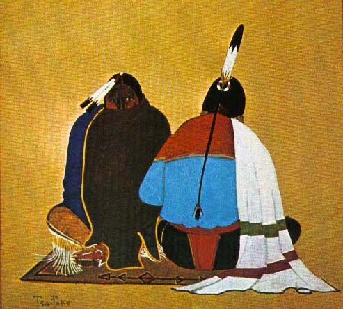 Kiowa/Comanche Painting by Monroe Tsa-Tok