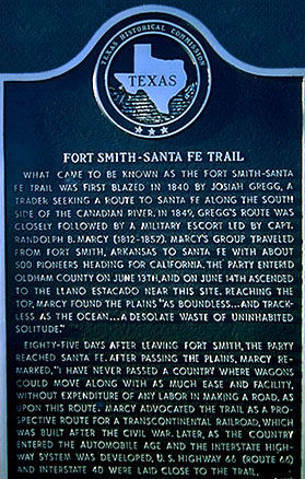 Picture of Santa Fe Trail Historical Marker