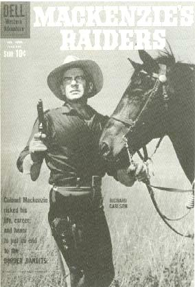Picture of Dell Comic Book of TV's Richard Carlson as Mackenzie