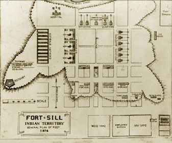 Early drawing of Fort Sill