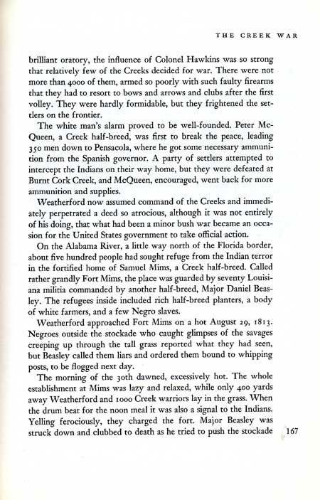 Creek War Story