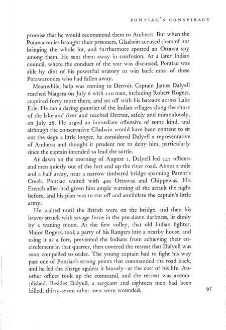 Story of Pontiac's War
