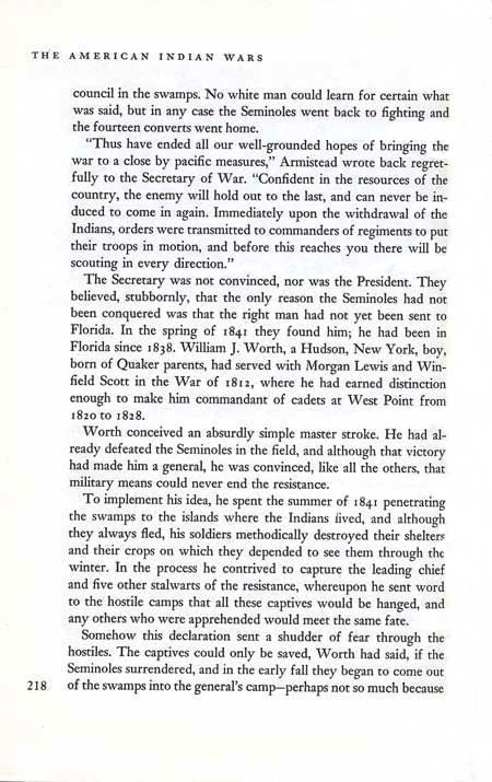 End of the Seminole War by John Tebbel & Keith Jennison