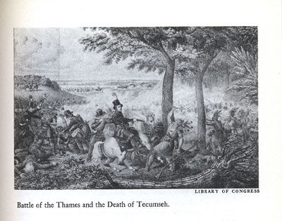 Picture of the Battle of the Thames and the Death of Tecumseh