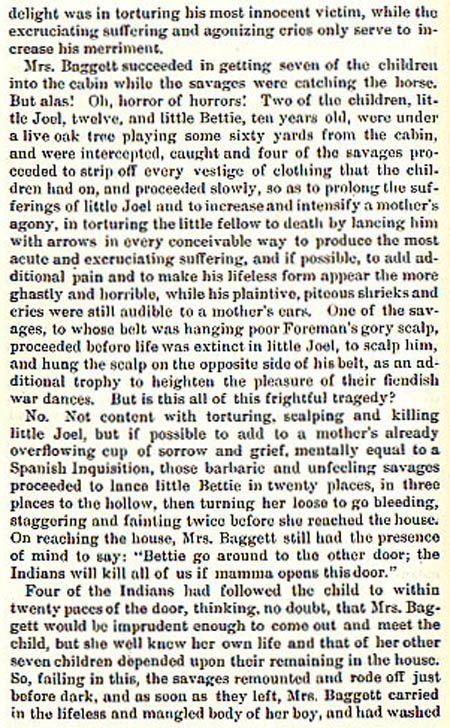 Baggett story by Wilbarger