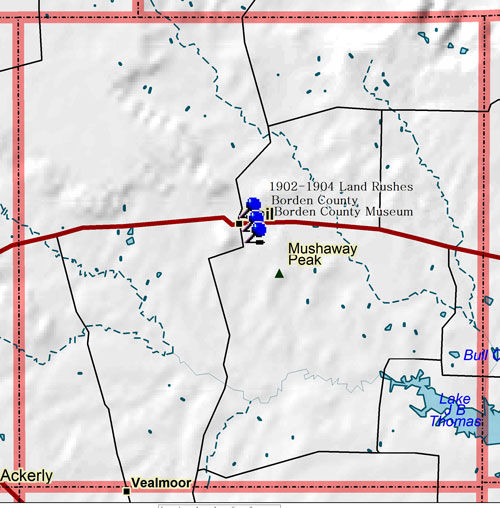 Map of Borden County Historic Sites