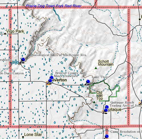 Map of Briscoe County Historic Sites