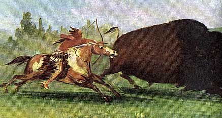 Picture of Buffalo Hunt by Horseback