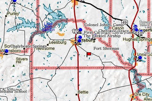 Map of camp County