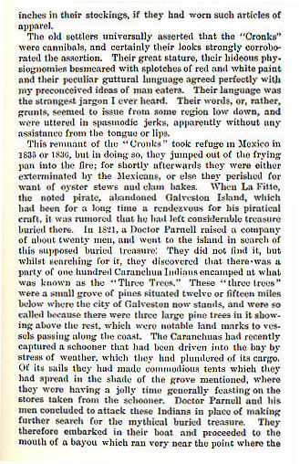 Caranchua Indians story from the book Indian Depredations in Texas by J. W. Wilbarger