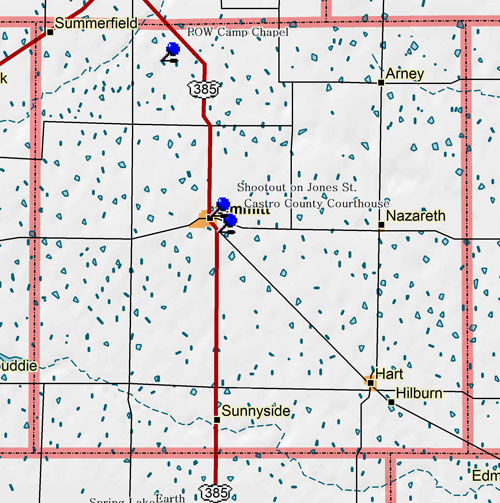 Map of Castro County