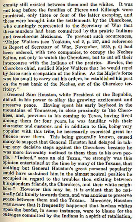Cherokee War story by Wilbarger