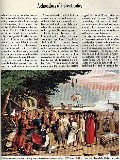 Chronology of Broken Treaties