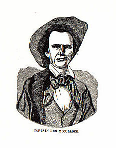 Captain Ben McCulloch picture from the book Indian Depredations in Texas by J. W. Wilbarger