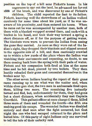 Captain Crawfield story from the book Indian Depredations in Texas by J. W. Wilbarger