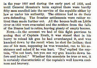 Captain Erath's Fight on Elm Creek story from the book Indian Depredations in Texas by J. W. Wilbarger