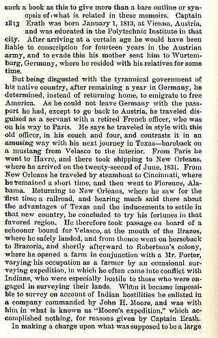 Captain George B. Erath story from the book Indian Depredations in Texas by J. W. Wilbarger