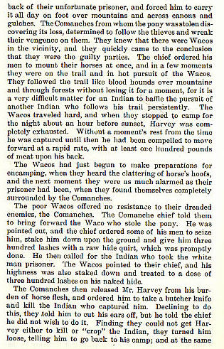 Captain Harvey story from the book Indian Depredations in Texas by J. W. Wilbarger