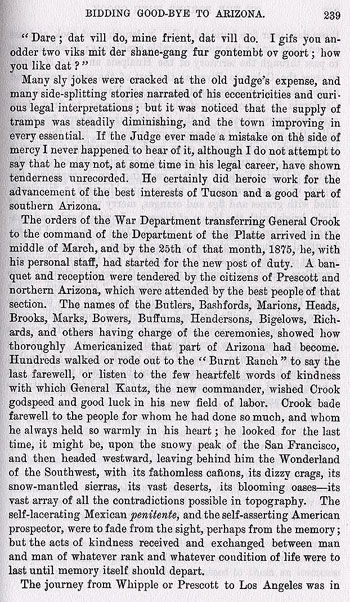 Story of the Hanging of Cochise from the book On the Border with Crook