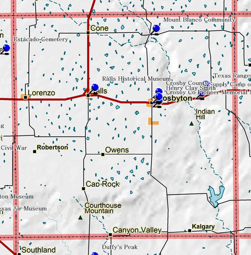 Map of Crosby County Historic Sites