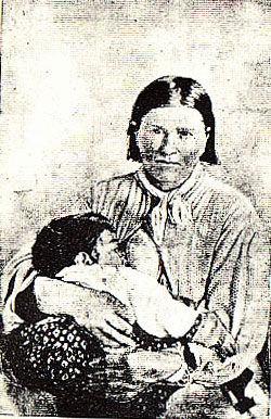 Cynthia Ann Parker picture from the book Indian Depredations in Texas by J. W. Wilbarger
