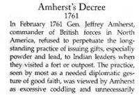 Story of Amherst's Decree