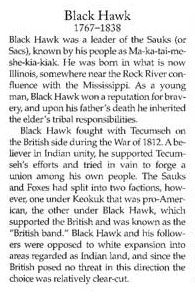 Black Hawk War Story