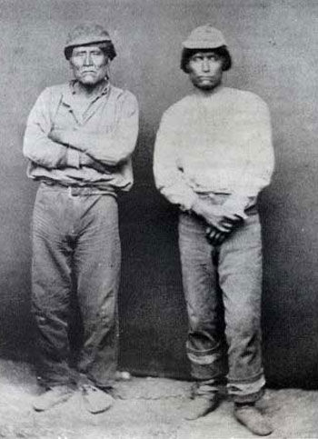 Picture of Schenchin and Captain Jack in Leg Irons