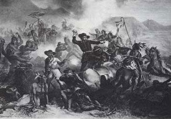 Picture of Custer's Death Struggle in 1876