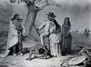 Picture of Daniel Boone Rescuing Captives from Indians