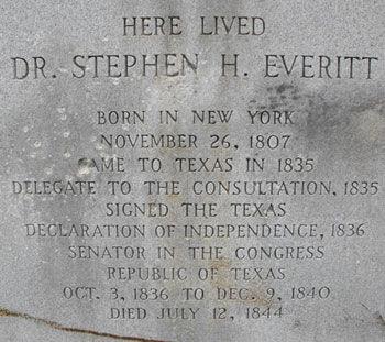 Historical Marker for Dr. Stephen H. Everitt
