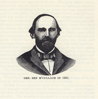 Gen. M'Culloch in 1861 picture from the book Indian Depredations in Texas by J. W. Wilbarger
