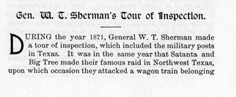 Gen. W. T. Sherman's Tour of Inspection