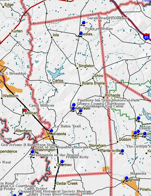 Map of Grimes County
