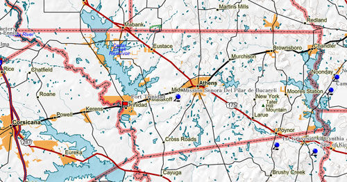 Map of Henderson County Historic Sites