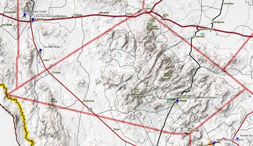 Map of Jeff Davis County