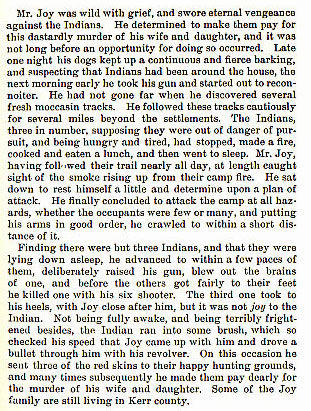The Joy Family story from the book Indian Depredations in Texas by J. W. Wilbarger