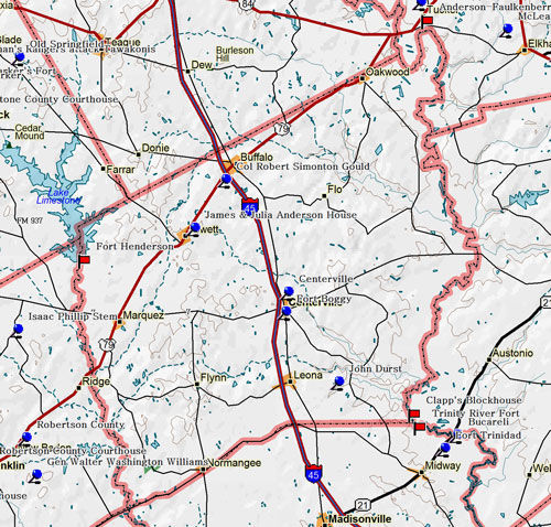 Map of Leon County Historic Sites