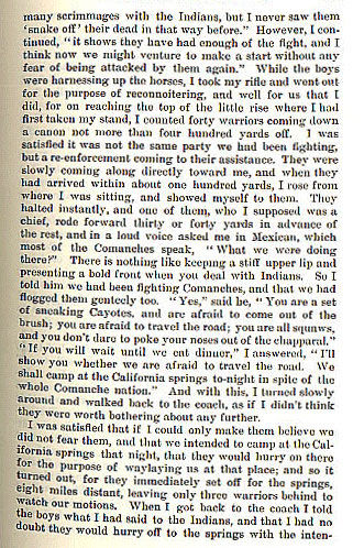 Indians Attack the Mail Coach story from the book Indian Depredations in Texas by J. W. Wilbarger