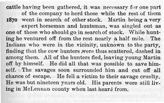 Henry Martin story from the book Indian Depredations in Texas by J. W. Wilbarger