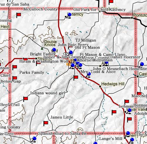 Map of Mason County Historic Sites